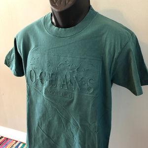 Vintage Shirts - 90s Ocean Monterey 3D Print Shirt California Beach
